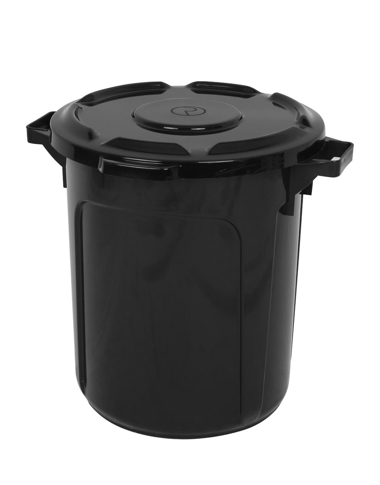 פח אשפה 60 ליטר שחור